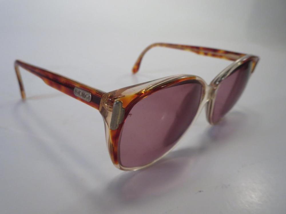 2236ac7a2c4 Vintage Luxottica Pearl Italy Amber Tortoise 80 s Eyeglass Sunglass Frames     Luxottica