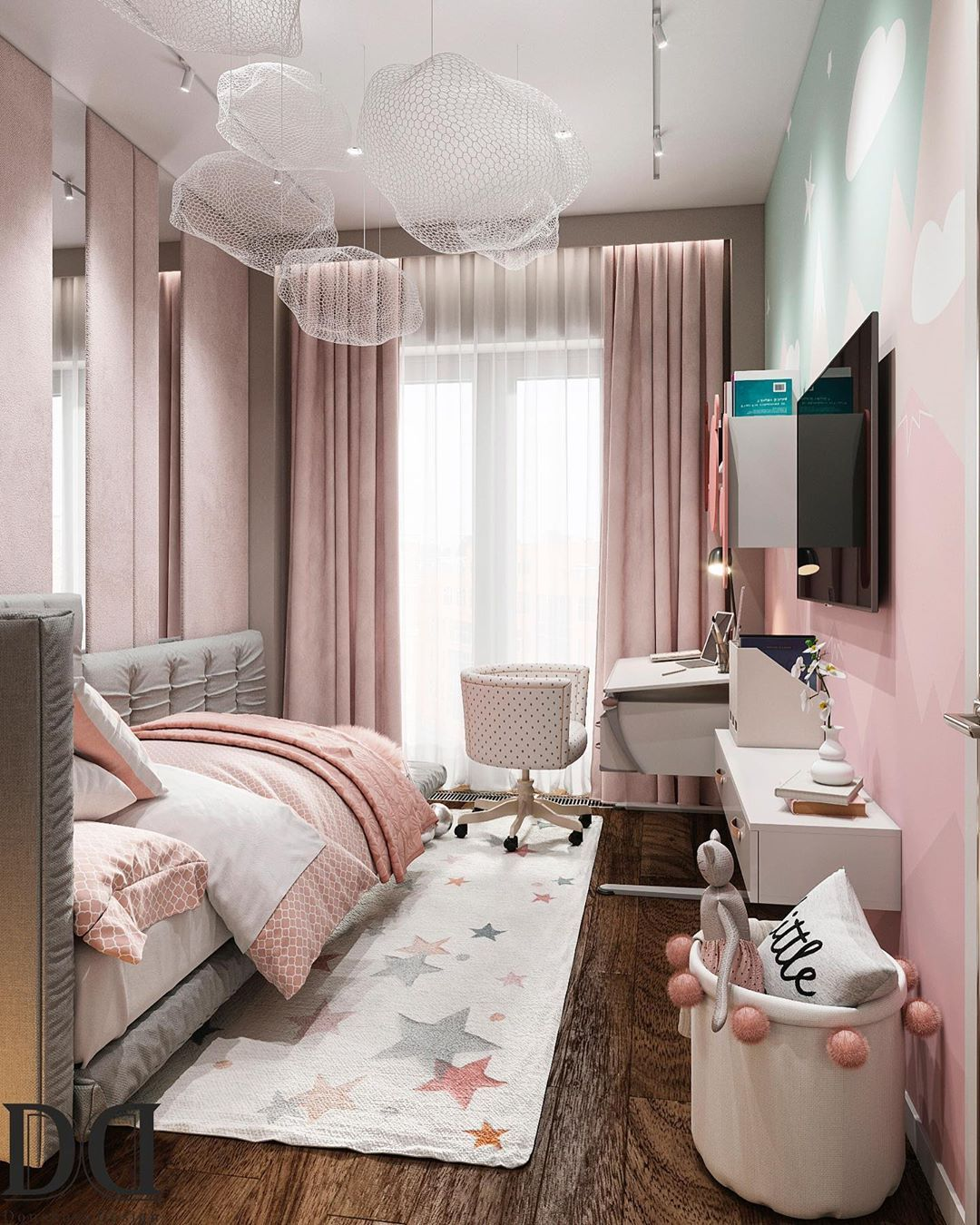 Kids Bedroom With A Mystical Pink Hue Luxury Kids Bedroom Modern Luxury Bedroom Modern Bedroom Interior Pink modern luxury room