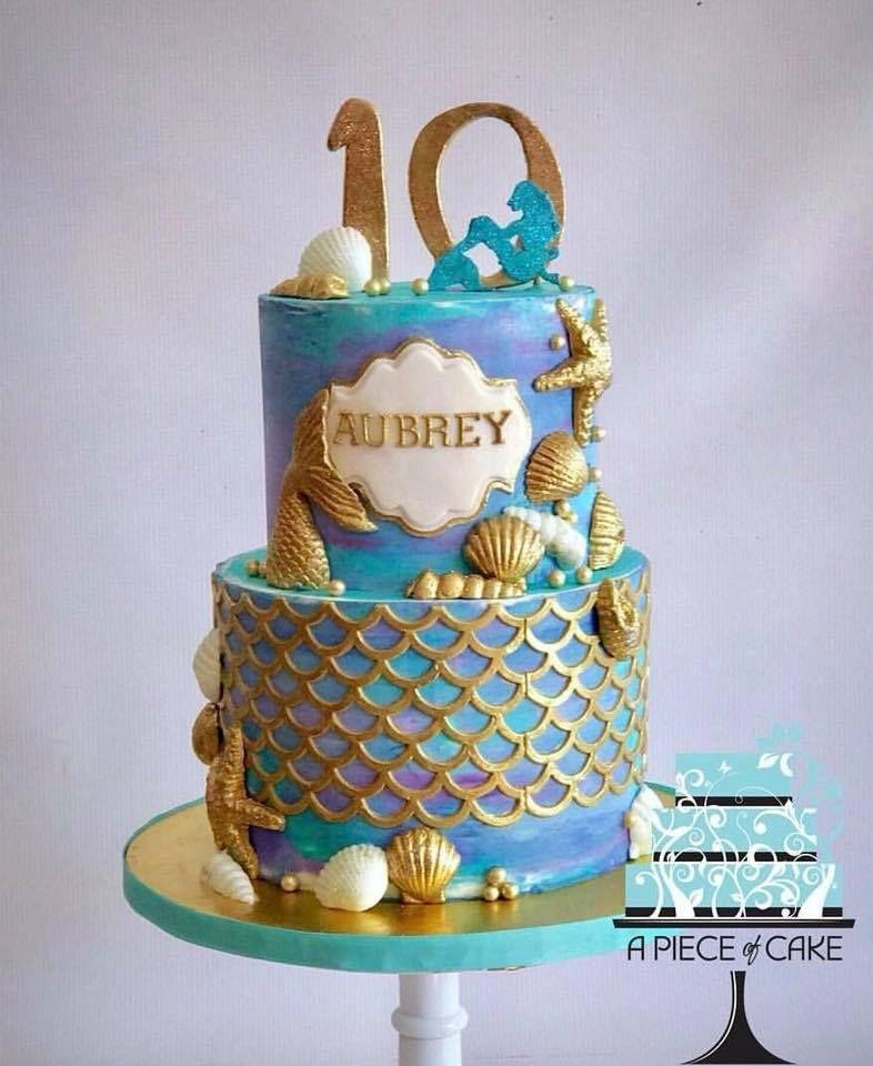 13 Mermaid Cakes Amp Party Ideas Little Mermaid Theme