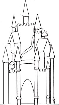 image result for how to draw a castle