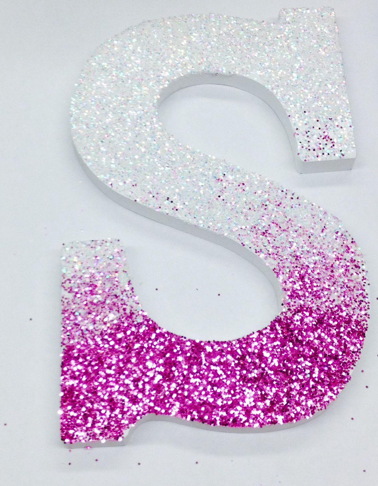 iniciales en carton con cola para encima del sofa diy diy tutorial how to make glitter ombre oversized monograms