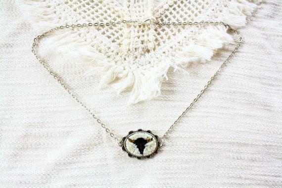 Buffalo / Wild West / collana con mosaico di Musemosaicojewels