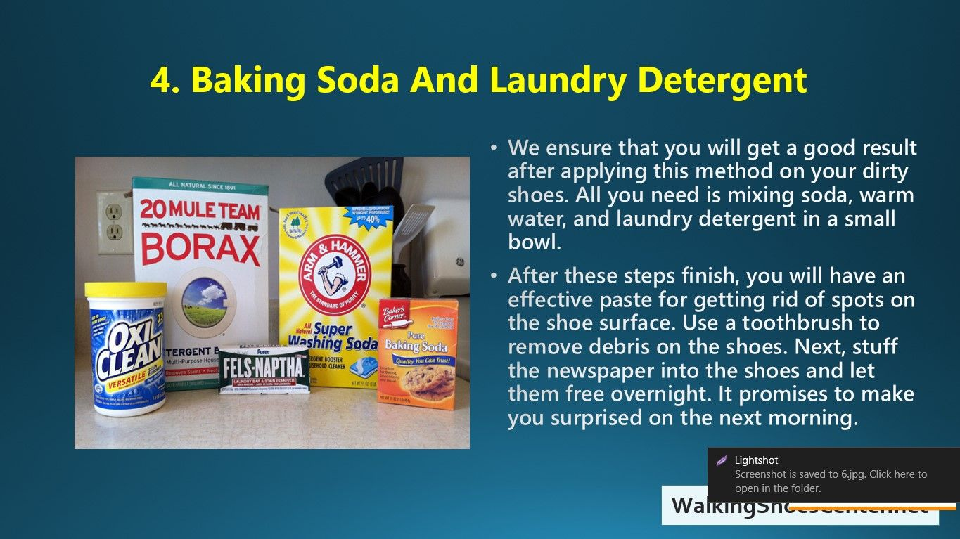 How To Clean Shoes With Baking Soda Baking Soda Clean Shoes Soda
