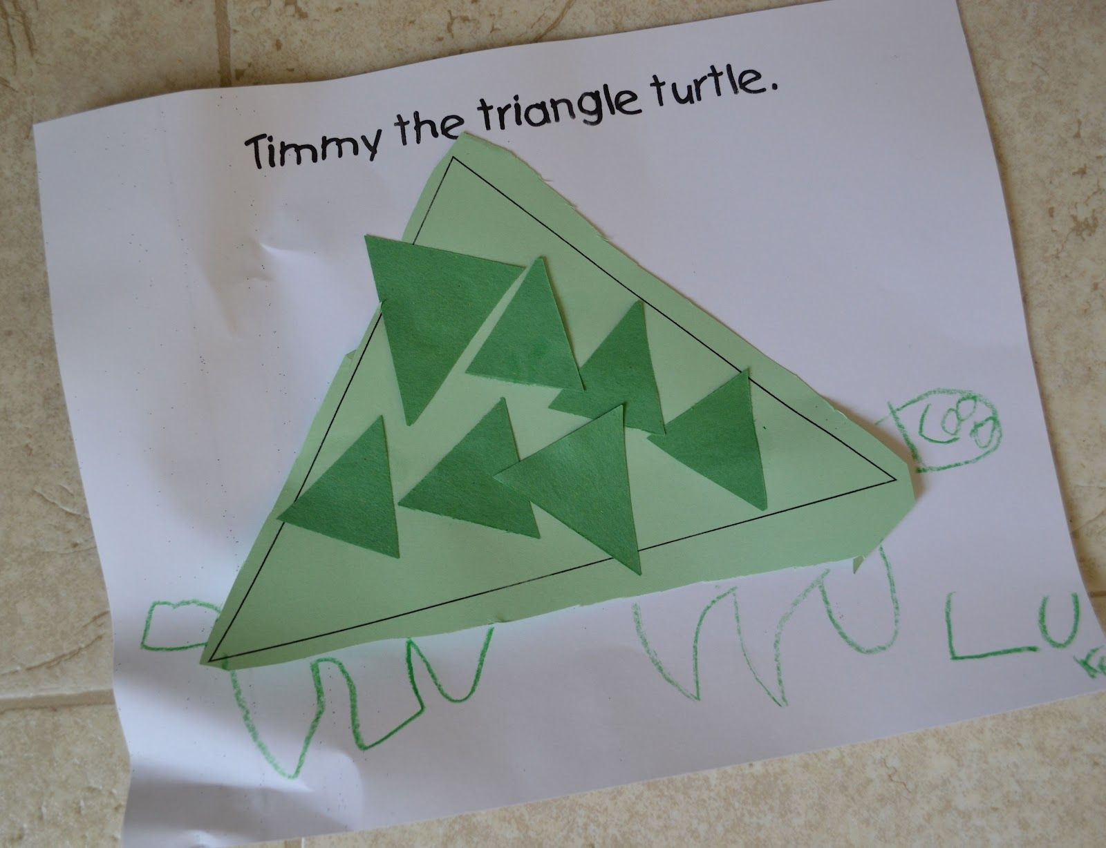 Lets make a Triangle Turtle | Triangle Crafts | Pinterest ...