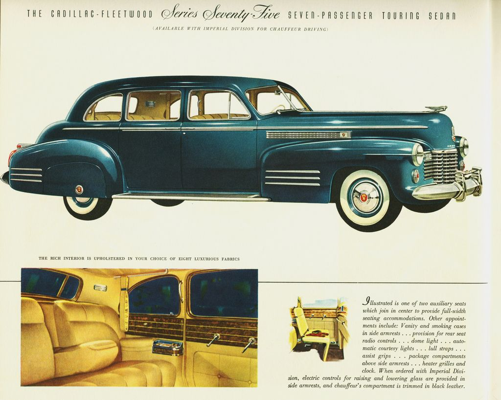1941 cadillac fleetwood series seventy five touring sedan