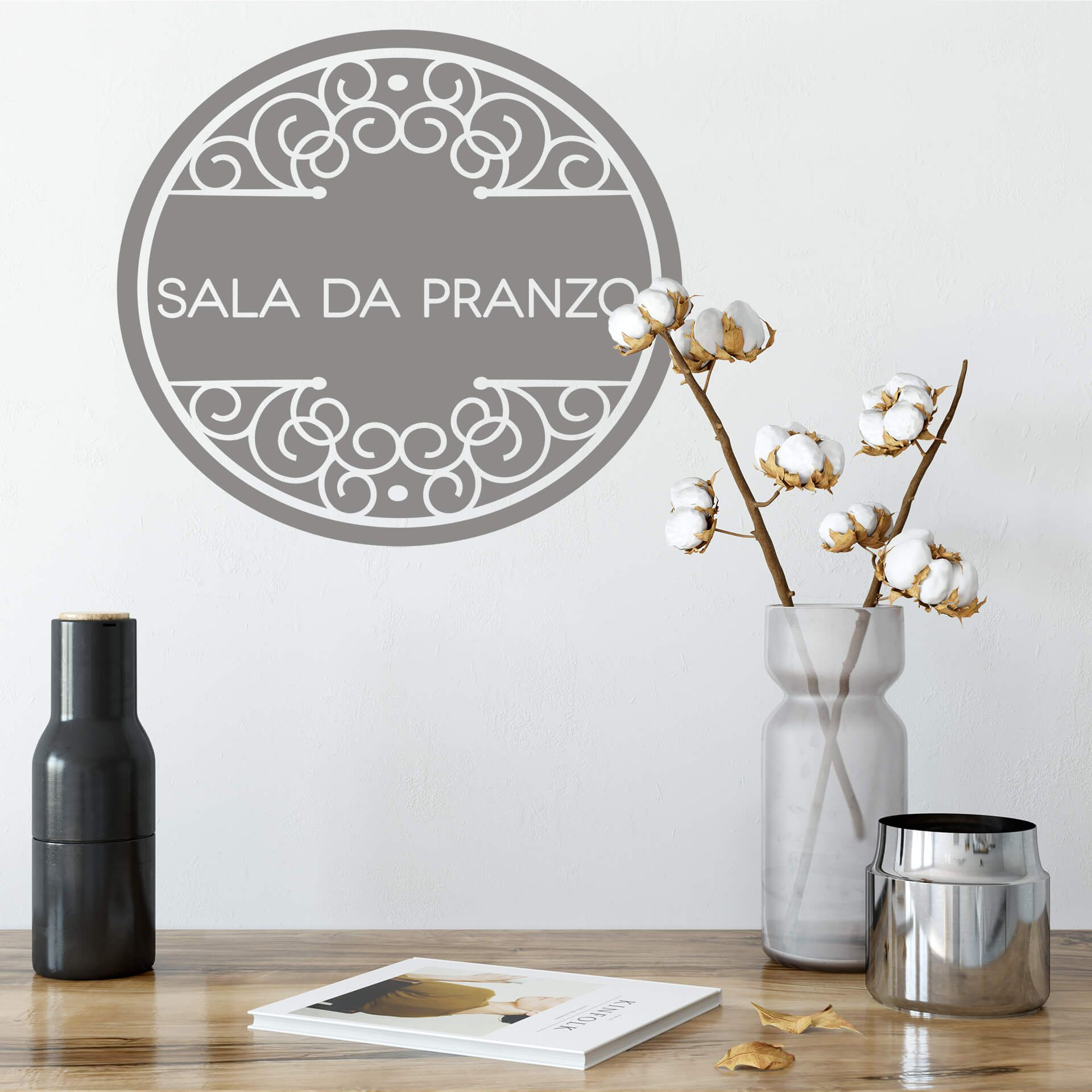 Adesivo murale - Sala da pranzo | wall-art.it | Adesivi ...