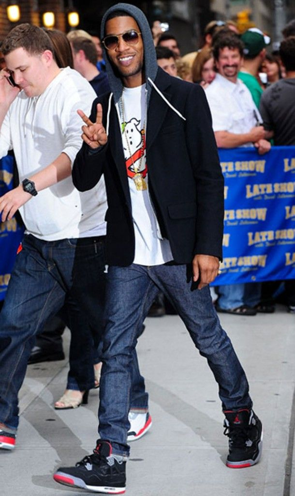 Celebrity Kicks: Kid Cudi wearing Air Jordan Retro IV Breds