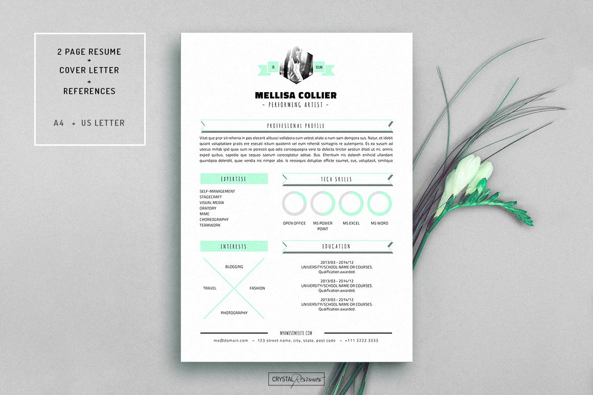 Ms Word Resume Template Cover Letter  College  Work