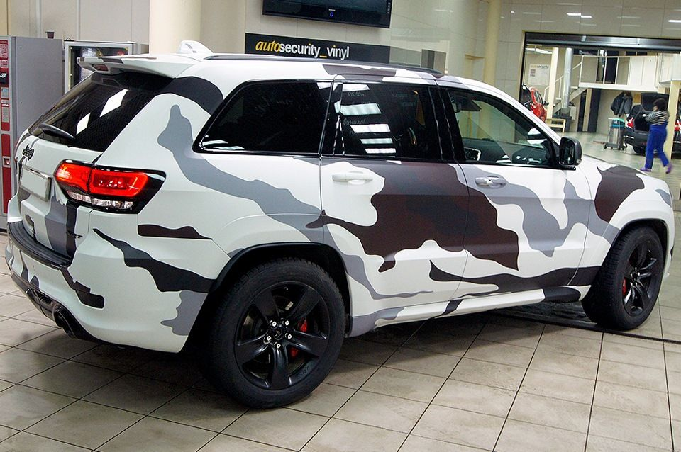 Jeep Grand Cherokee Srt White Camo