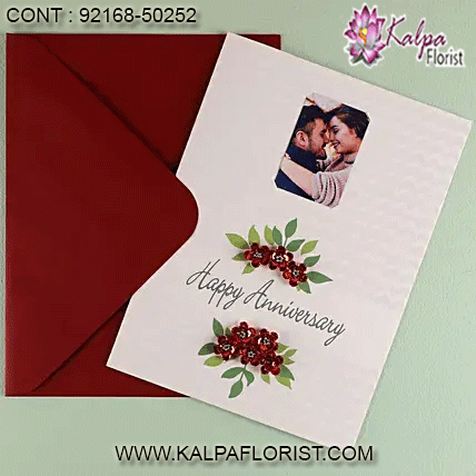 Big Happy Anniversary Red Flower Card Greeting Card Online Greeting Card Shops Greeting Cards Cards