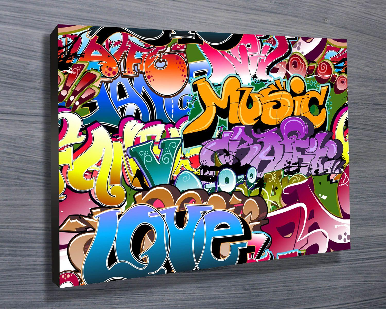 Graffiti art information - Street Graffiti Wall Art On Canvas By Blue Horizon Prints Http Www