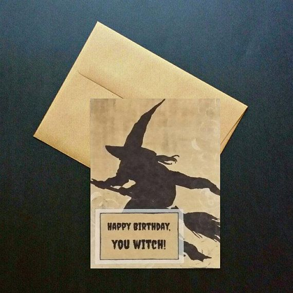 Happy Birthday You Witch Card Funny Birthday Card For Her Pagan