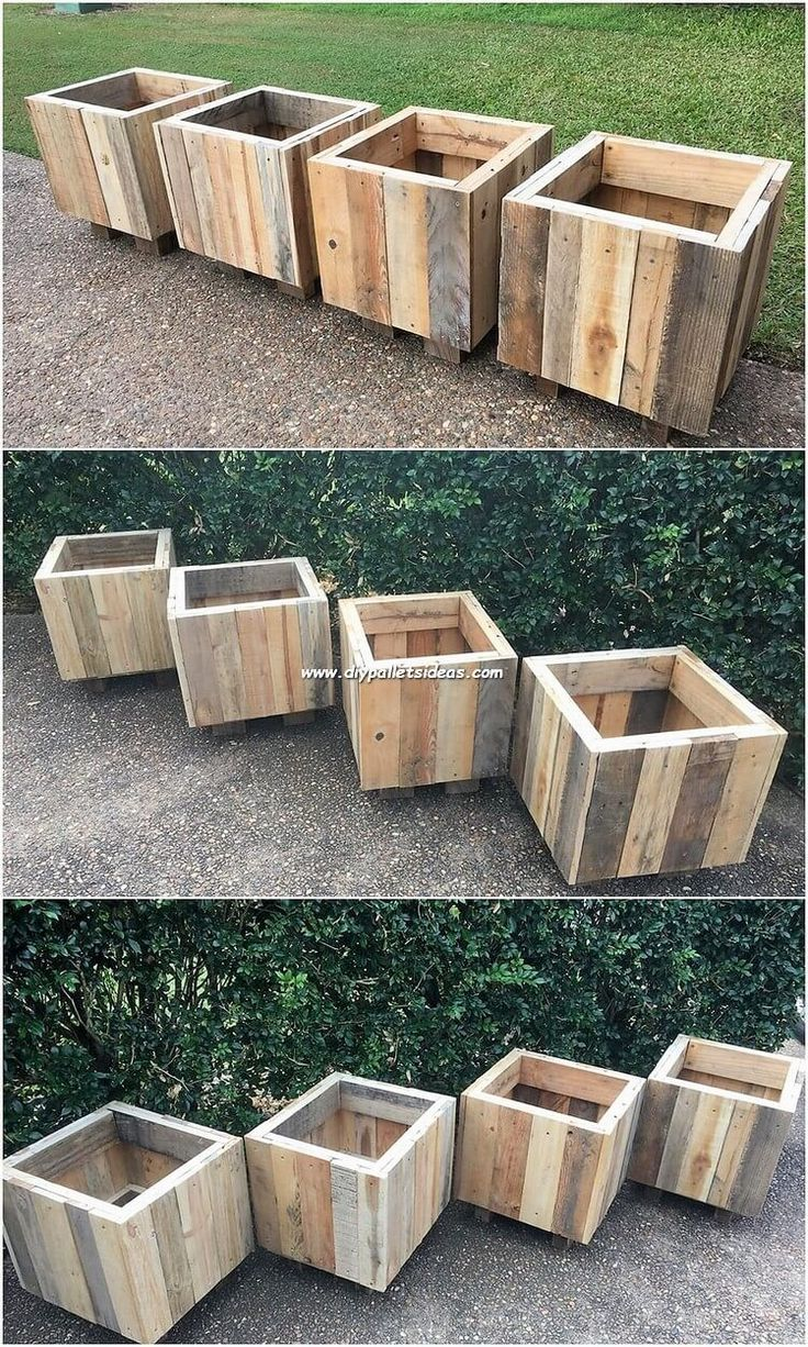 Inconceivable Ideas With Recycled Wood Pallets Planters Ideas Of Planters Planters W Diy Outdoor Wood Projects Outdoor Wood Projects Diy Wooden Planters