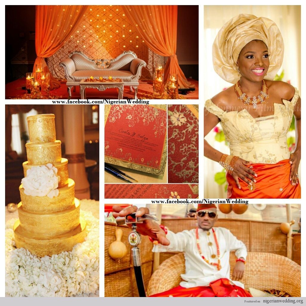 Red gold and orange i want this beautiful nigerian wedding red gold and orange i want this beautiful nigerian wedding ombrellifo Choice Image