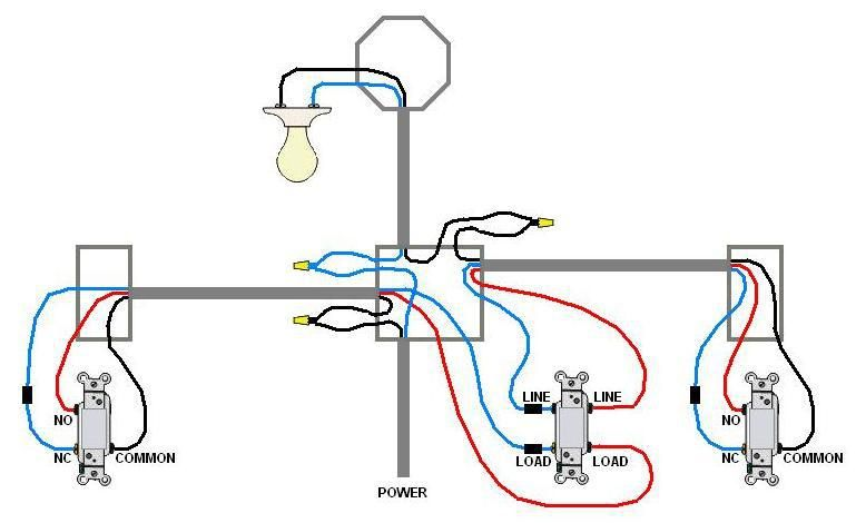Image result for 4 way switch wiring diagram light middle ... on