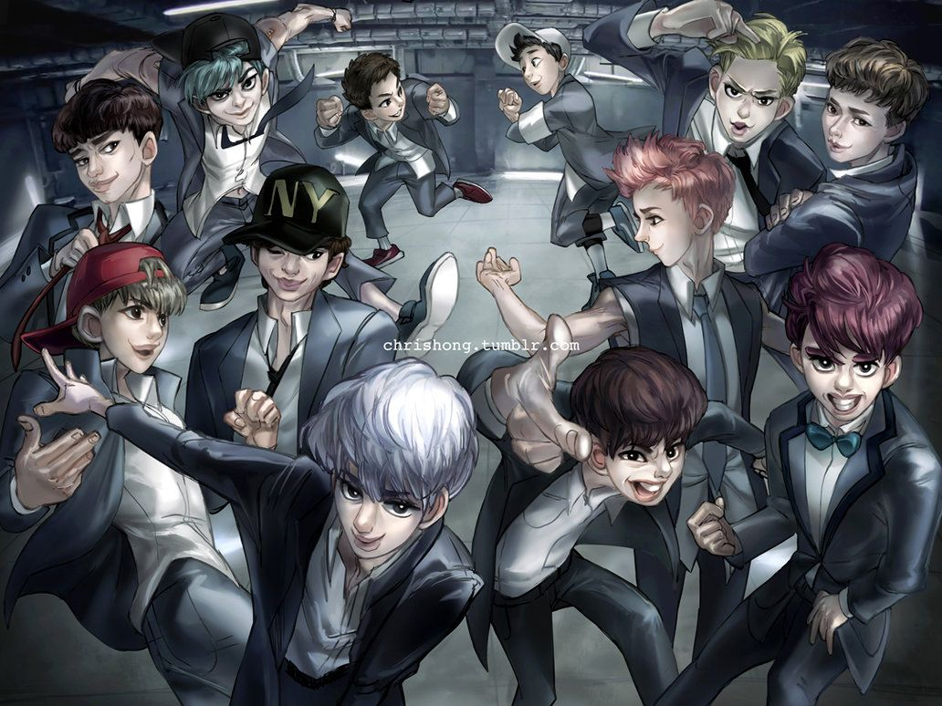 EXO Growl by kimchii on DeviantArt Arte, Kpop, Do kyungsoo