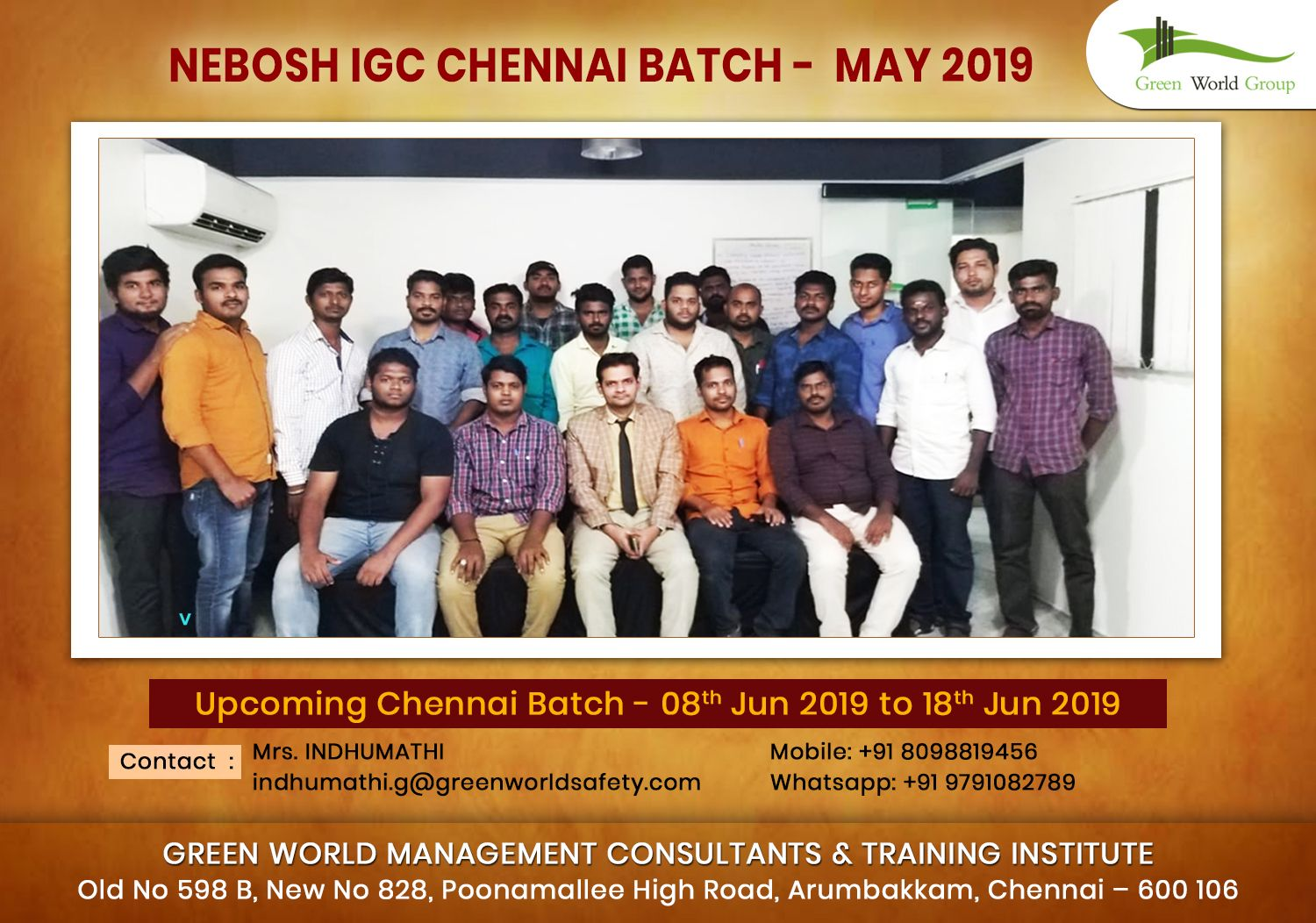 Our students have completed #NEBOSHIGC Training program in #Chennai