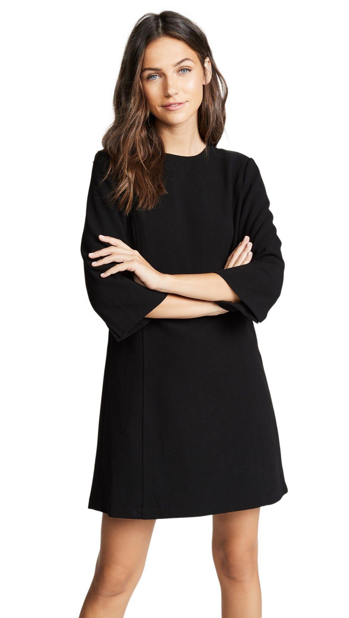 Alice Olivia Gem 3 4 Sleeve Shift Dress Day To Night Dresses Shift Dress Short Women Fashion [ 2000 x 1128 Pixel ]