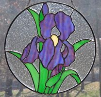 Stained Glass Iris Pattern Iris Stained Glass Pattern Stained