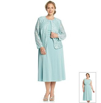 Mother-of-the-Bride Dress | Jessica Howard® Plus Size Lace Jacket ...