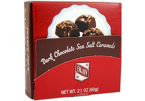Dark Chocolate Sea Salt Caramels Gift Card Holder | food I want or ...