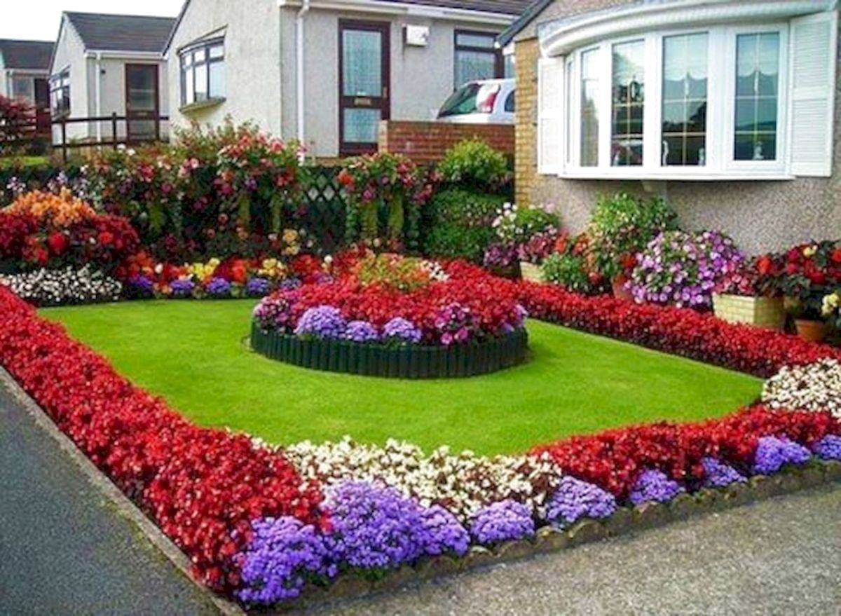 53 Beautiful Flower Garden Design Ideas Front Yard Landscaping