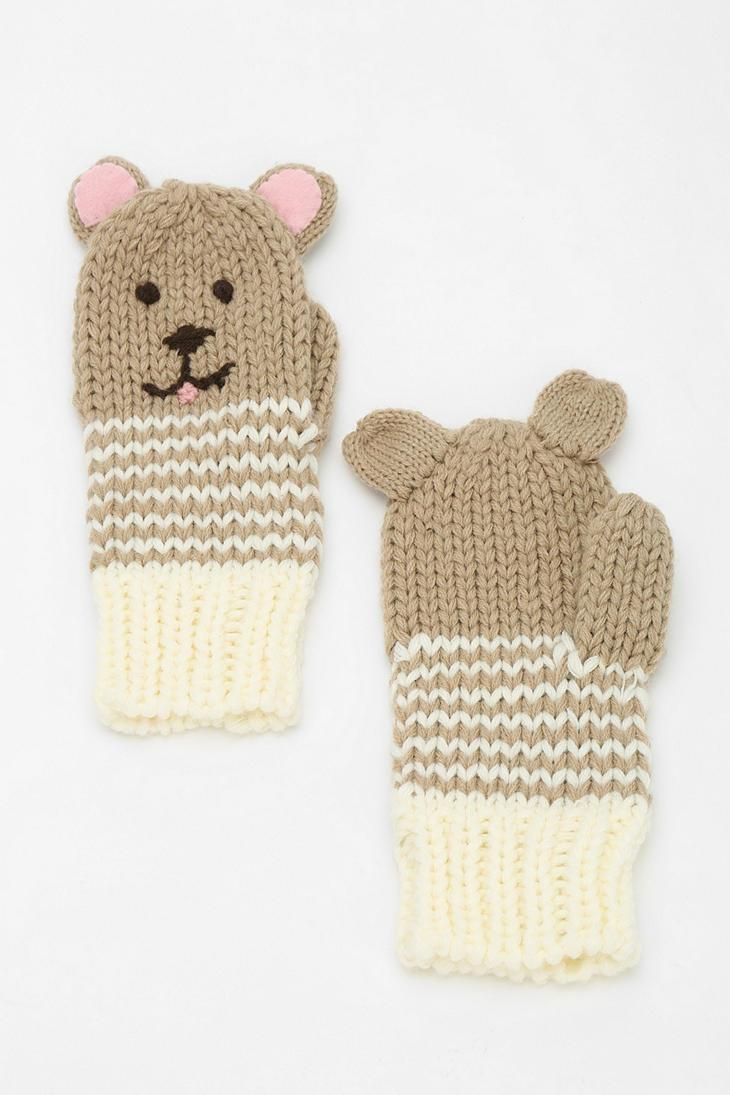 Animal Mitten | cuteness | Pinterest | Ropa, Guantes and Accesorios