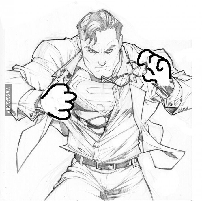 People who draw will understand... | Superman art, Old ...