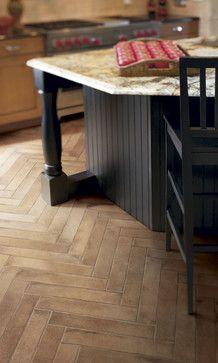 Crossville Tuscan Clay Series - traditional - floor tiles - Crossville- unpolished- unglazed- porcelain floor tile- herringbone