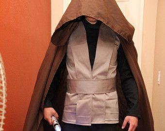 jedi costume cloak luke skywalker brown cloak cape with hood