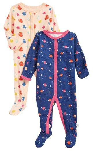 8cba0773e667 Infant Girl s Rosie Pope Planets   Constellations 2-Pack Footies ...