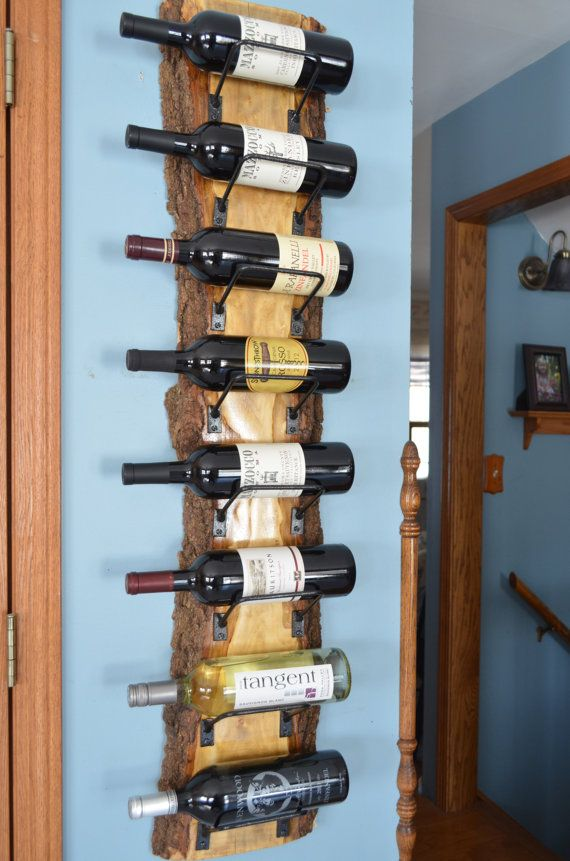 Beautiful Live Edge Wine Rack Wonderful Wood Grain 8 Bottle Wine