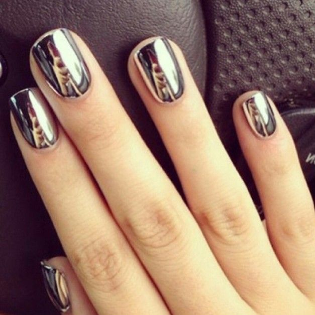 Картинки по запросу silver metallic nail polish | Nails | Pinterest ...