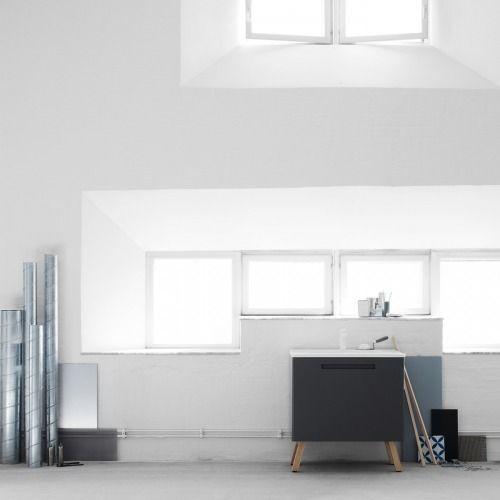 Bathroom furniture fromSwoon, design by Fredrik Wallner  StylingbyLotta Agaton Photo byKristofer Johnsson   via styleandcreate.com
