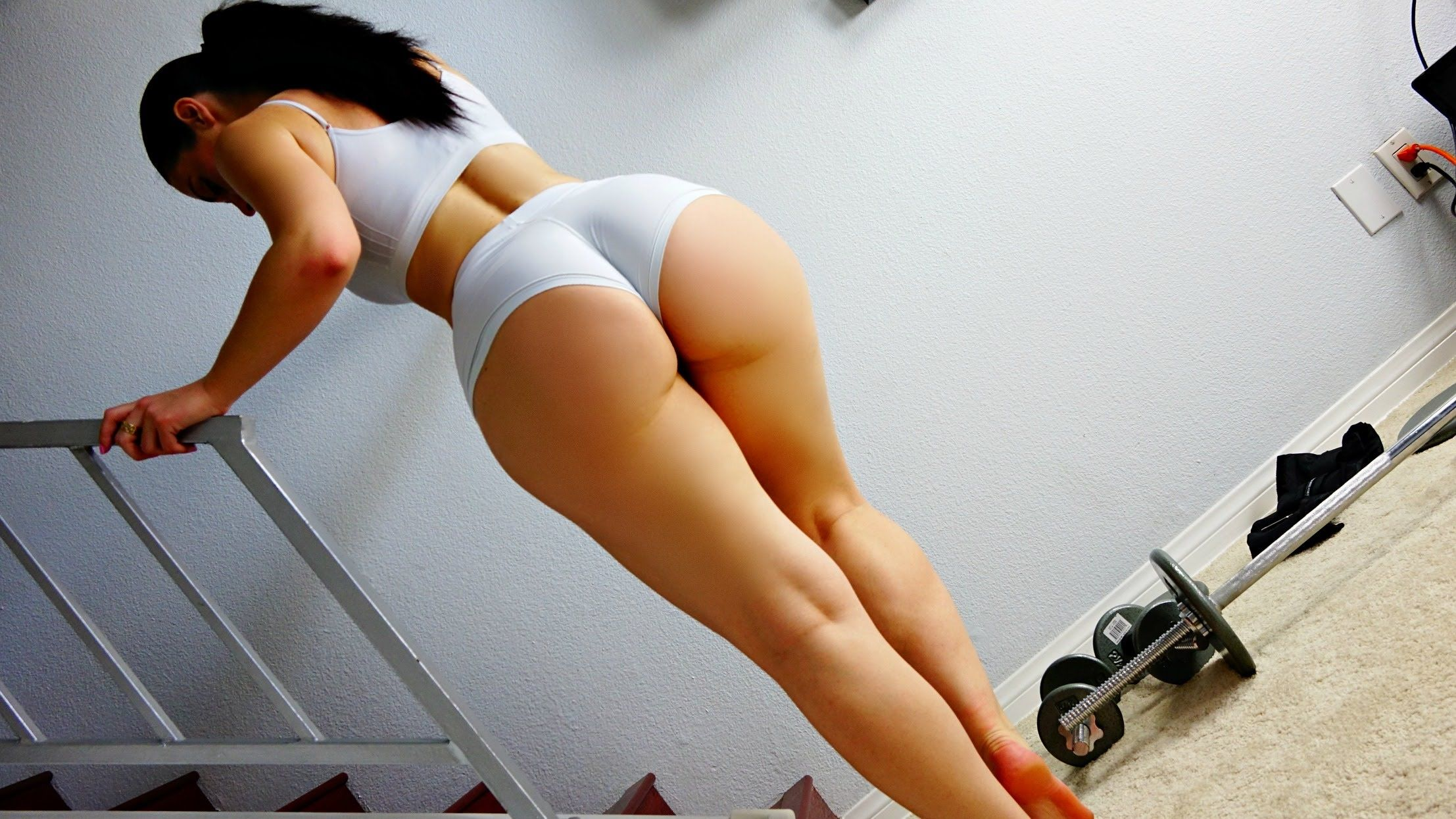 image Build a booty workout so nerved up please forgive