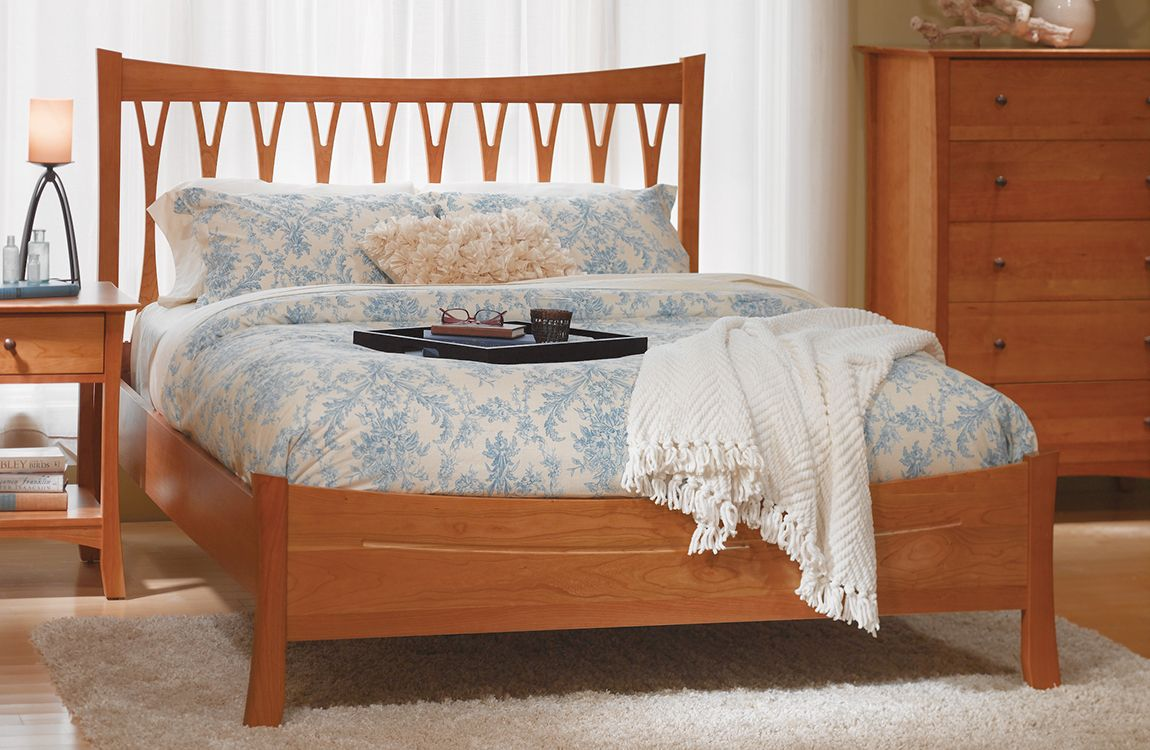 Superior Grafton Wishbone Bed Low Footboard | Vermont Made Furniture