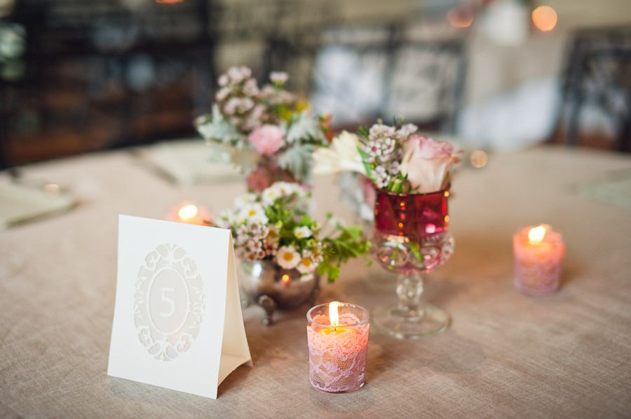 Image Detail For Lace Diy Wedding Projects Romantic Reception Decor Candles