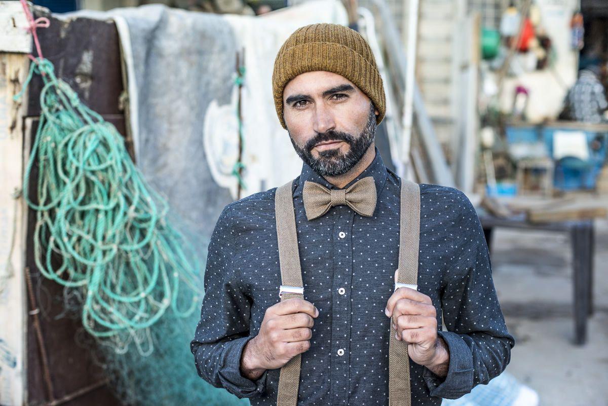 Suit suspenders set groom wedding suspenders and suit bow tie