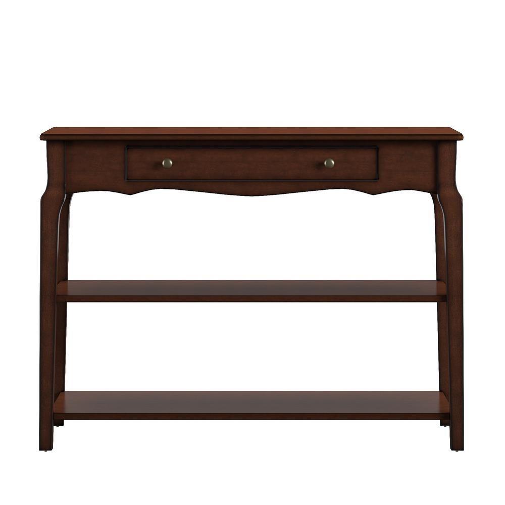 Homesullivan Espresso Sofa Table Tv Stand Brown Tv Stand Shelves White Sofa Table Desk In Living Room