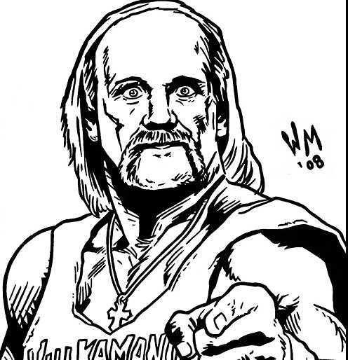 Hulk Hogan Coloring Page Printable