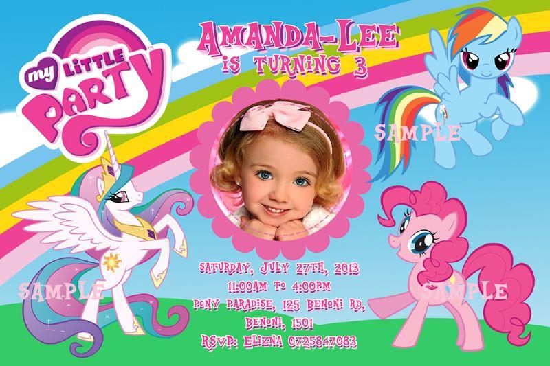 My Little Pony Invitation Recuadros Para Fotos Y Mi Little