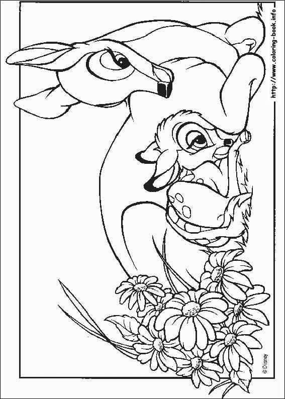 Bambi Coloring Picture Drawings Pinterest Disney Colori And