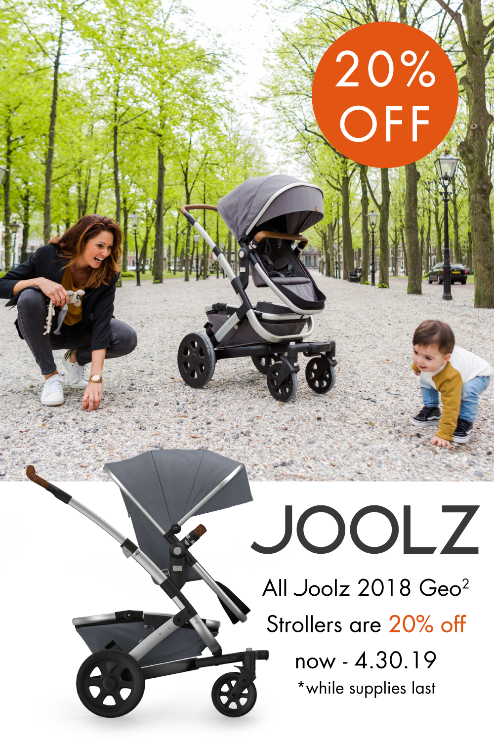 Joolz Spring Sale! All Joolz 2018 Geo2 Strollers are 20