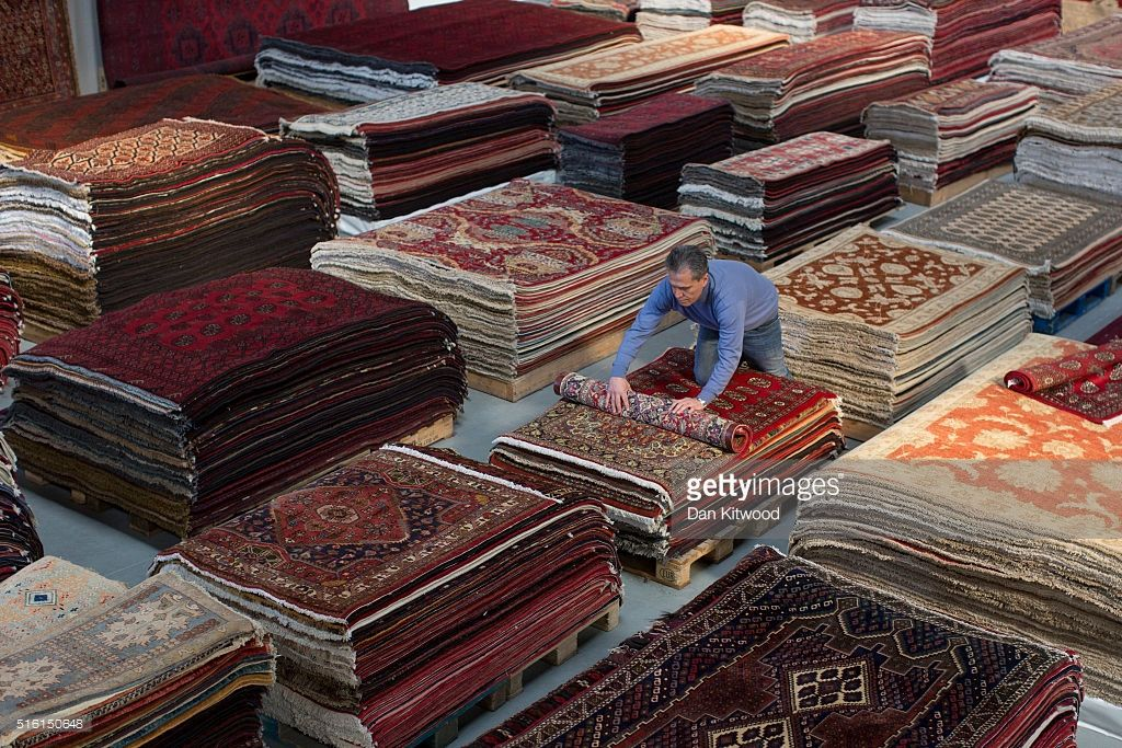 Traditional Persian Carpets And Rugs Ahwazian London Photography By Getty Images Dan Kitwood