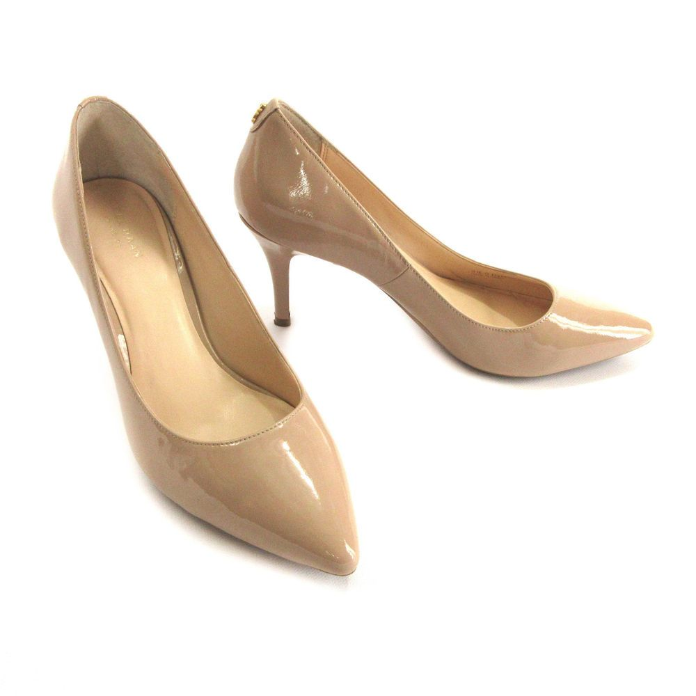 Cole Haan Womens Prieta Pump II Suede Pointed Toe Classic Pumps Tan Size 8.0