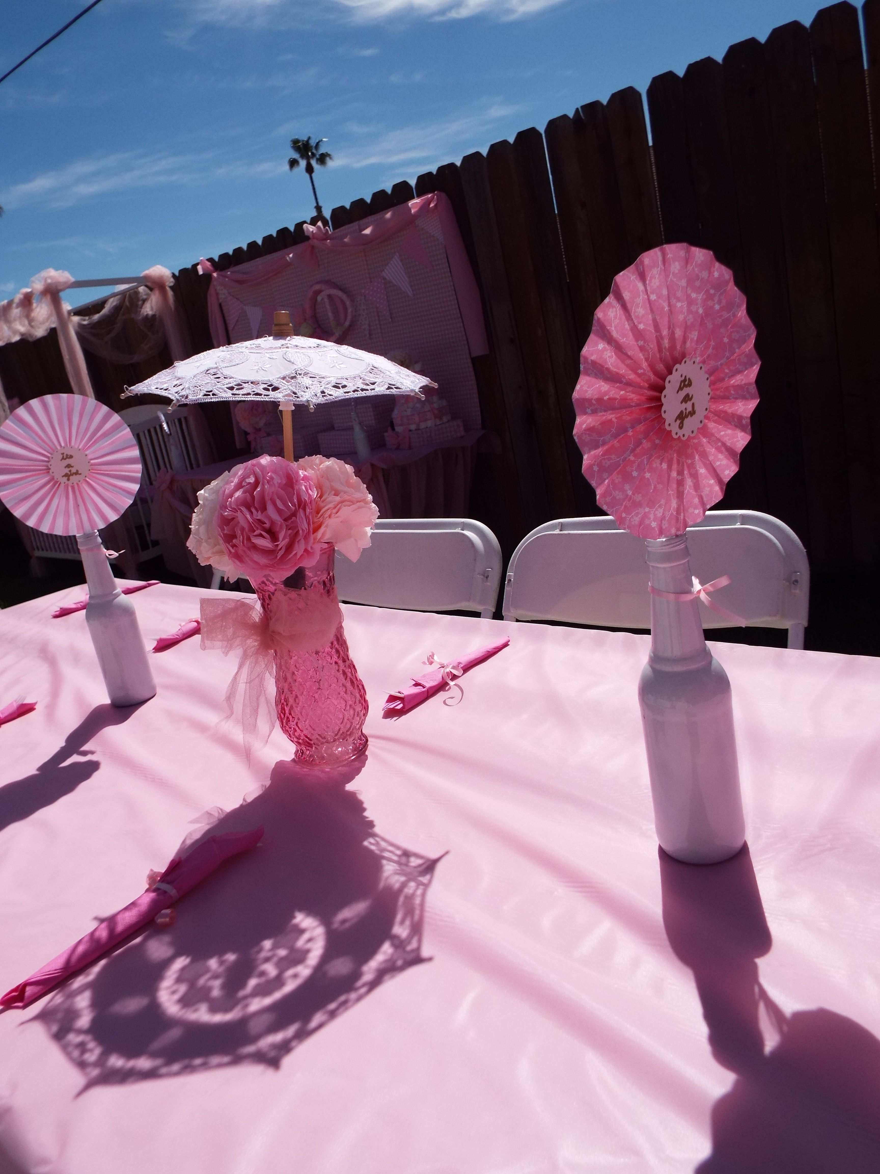 umbrella centerpieces shabby chic baby shower outdoor baby shower ...