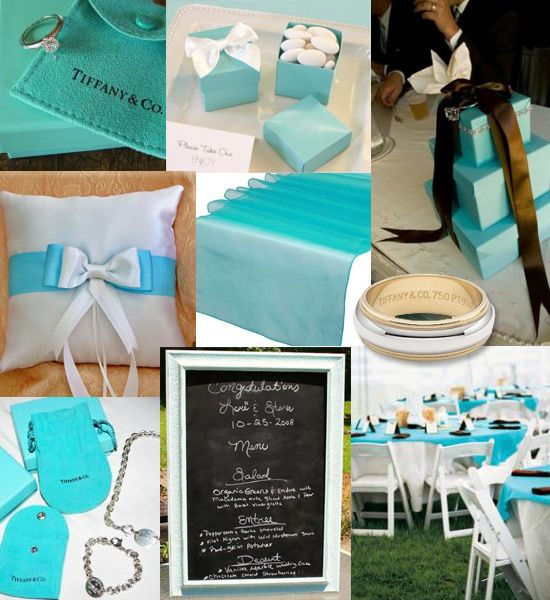 Tiffany Wedding Ideas: Inspiration Monday - Tiffany Theme
