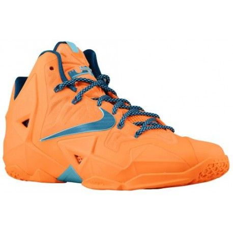 The Nike Lebron 11 XI Hardwood Classic Atomic Orange Sneaker is available  now for 200 bucks HERE & HERE .