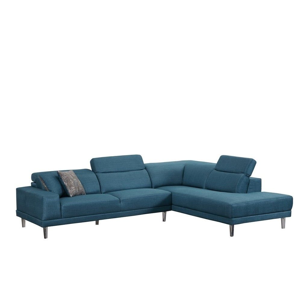 Comfort and design have never looked better than with this microfiber upholstered living room sectional. This sectional is available in a variety of colors so you will be able to find the sectional that fits into your living room perfectly. This L shaped sectional is available in right facing or left facing for your convenience. Type: Living room sectional Available colors: Blue, beige or grey Right arm facing or left arm facing available Seat Depth: N/A Seat height: N/A Upholstery type: Microfi