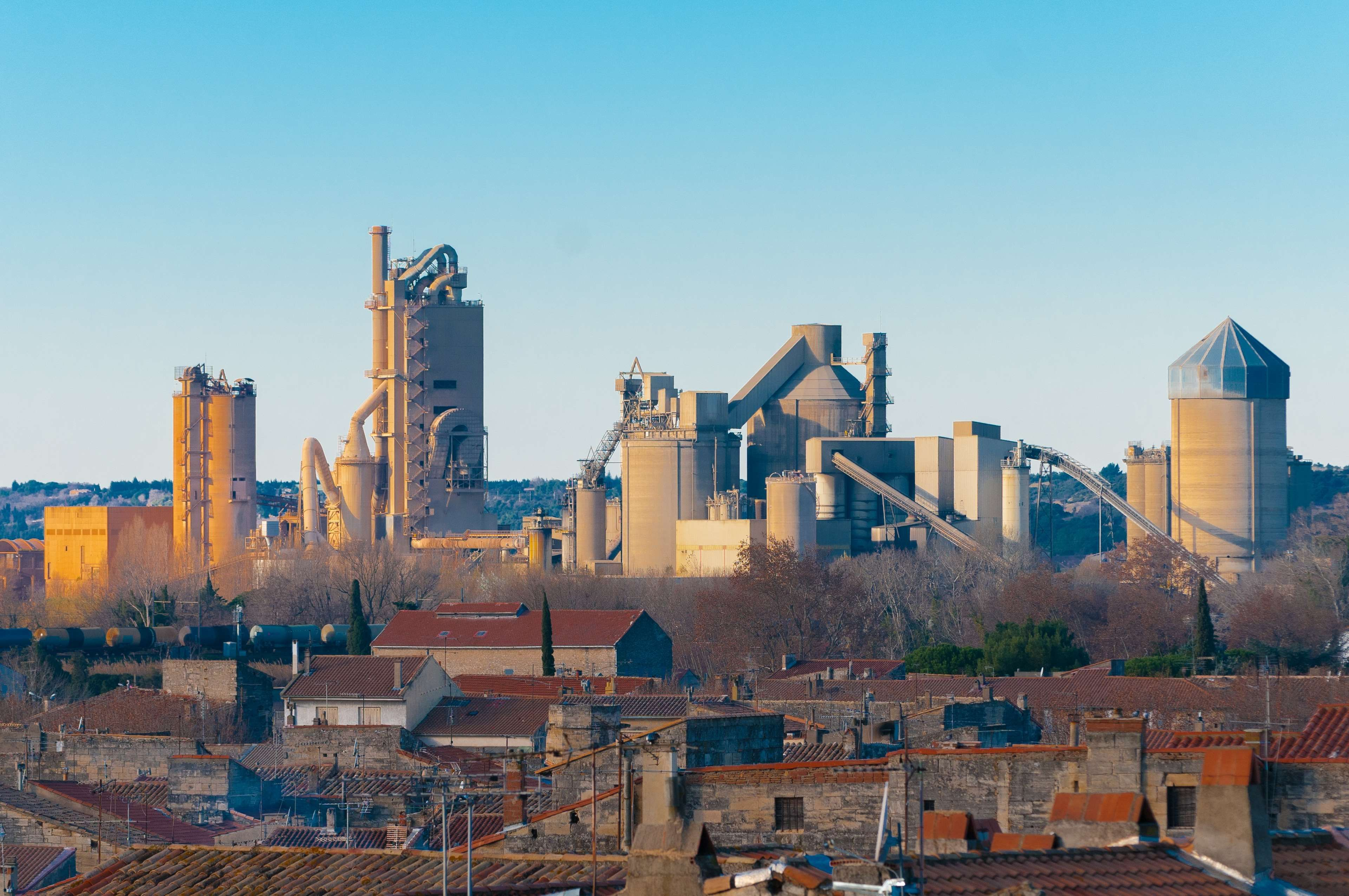 Beaucaire Business Cement Plant Factory Industrial Area